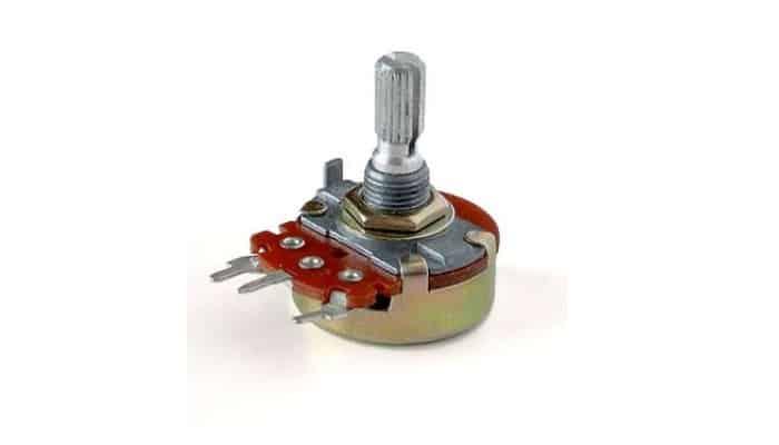 Potenciómetro para un mando giratorio