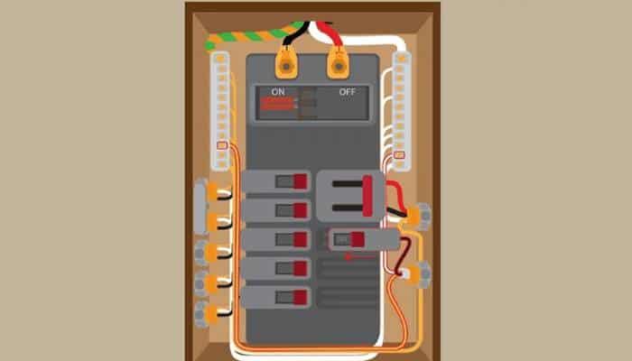 Conecta el interruptor de circuito