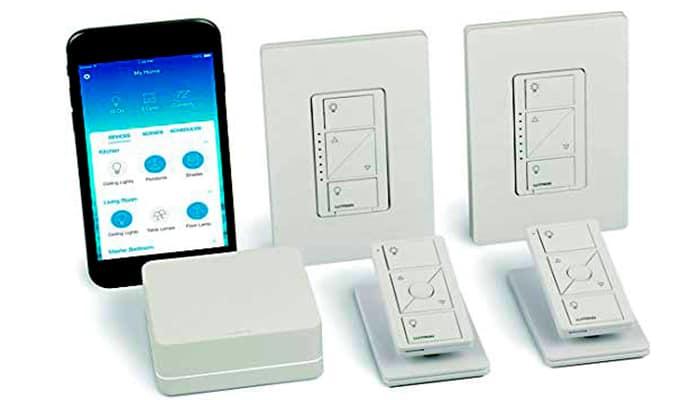 Interruptores de luz modernos Lutron Caseta