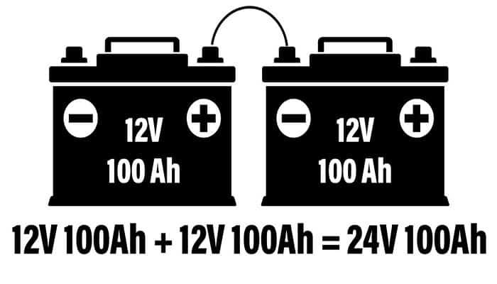Conexión de baterías en serie