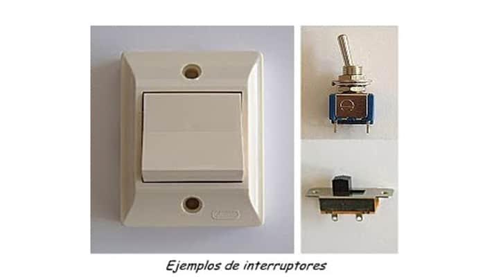 Ejemplo de interruptores