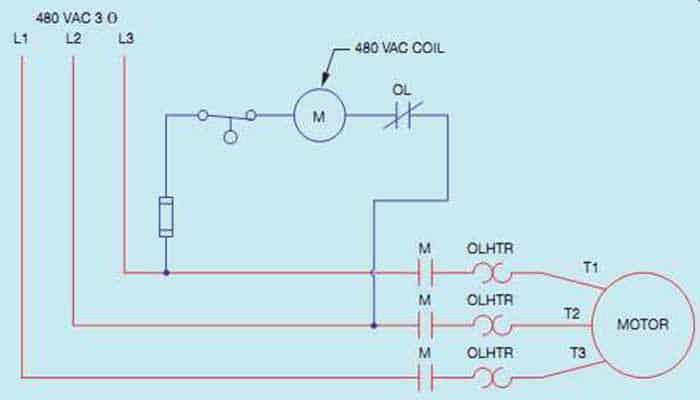 Circuitos de control de tres hilos