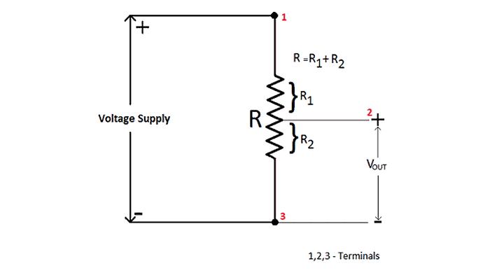 Diagrama de circuito del potenciómetro