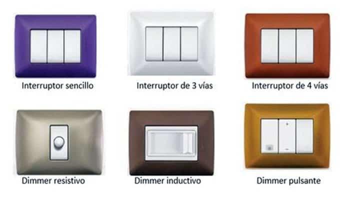 Tipos de Interruptores de Luz
