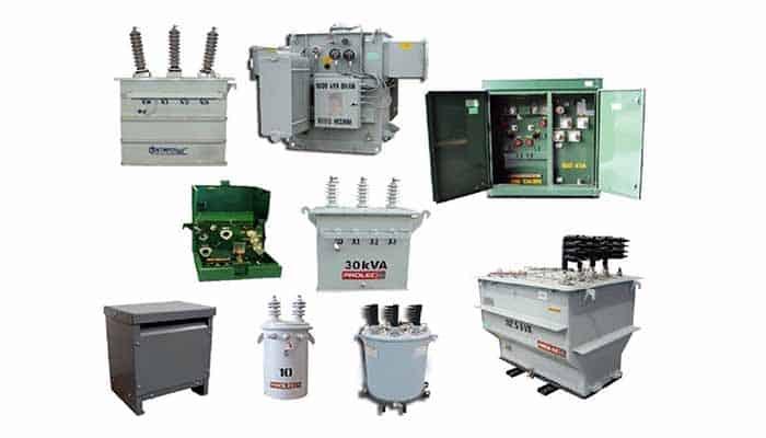 Tipos de transformadores de potencia