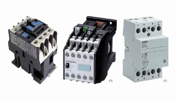 Tipos de contactores eléctricos