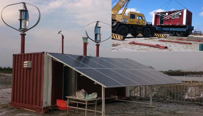 Sistemas híbridos solares y eólicos