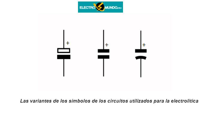 Símbolos del condensador electrolítico