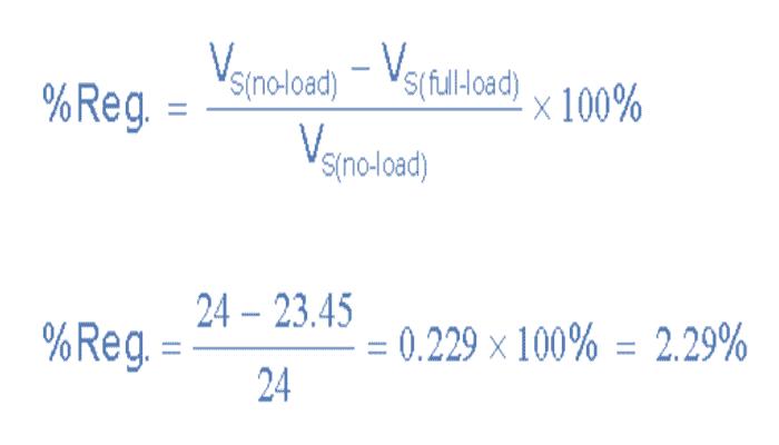 Ejemplo de regulación de la tensión del transformador No1