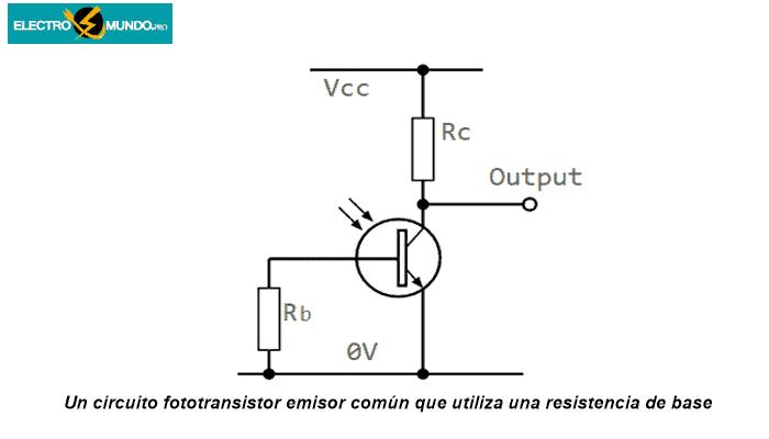 Uso de la conexión de la base en los circuitos de fototransistores
