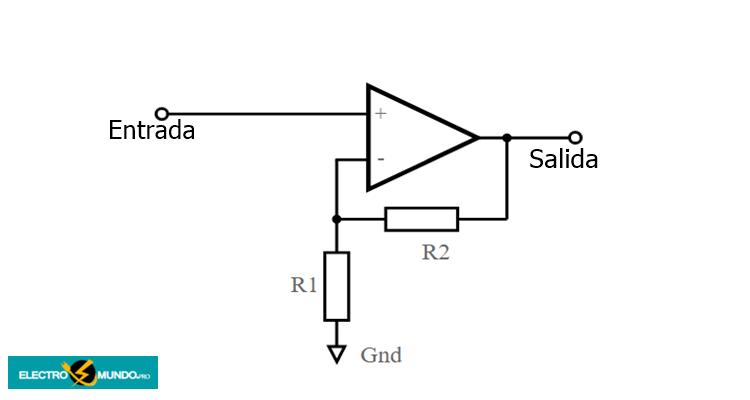 Circuito de amplificador no inversor