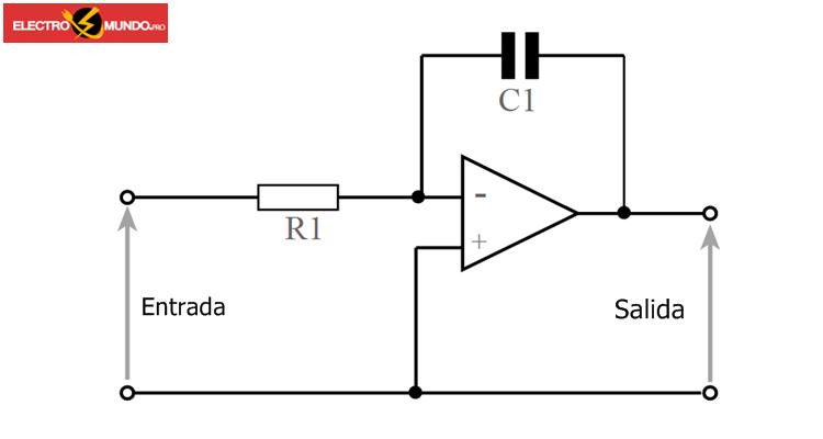 Circuito integrador del amplificador operacional
