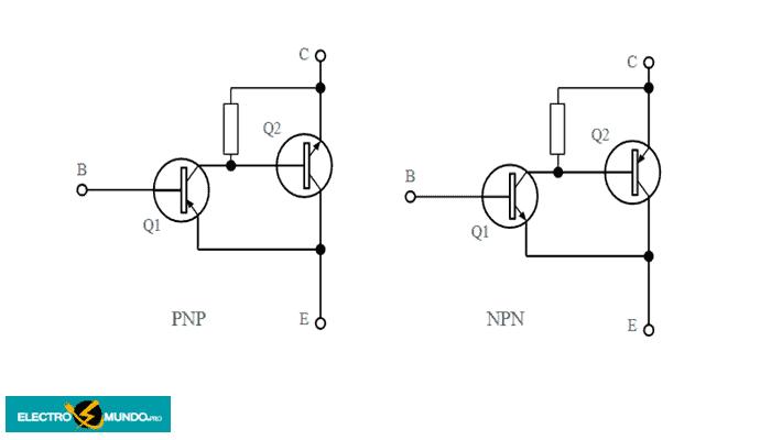 Circuito básico del par Sziklai