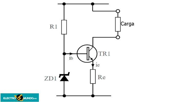 Circuito simple de fuente de corriente activa estabilizada
