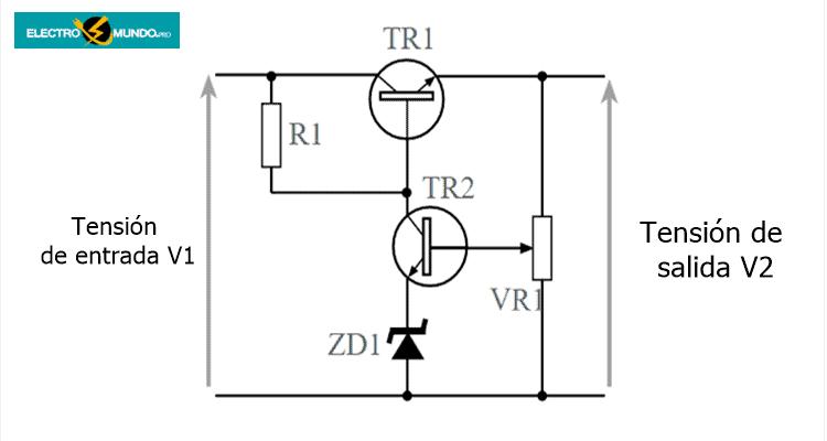Regulador de paso en serie con realimentación